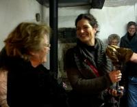 Links Lydia Weber_rechts Brigitte  Lichter_Kunsthaus Zendscheid