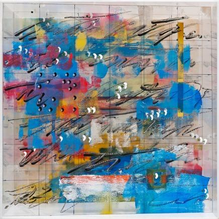 ohne Titel (Leuchtobjekt), 2007, Plexiglas, graviert, bemalt, 30x30x30 cm