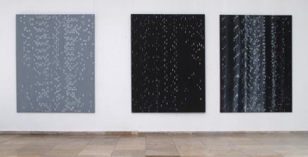 """Drei Fließbilder"" Öl auf Leinwand 200 x 160/150 cm"