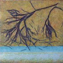 Fallende Zweige, 2016, Holz, Papierabguss, Acryl, 60 x 60 x 3 cm